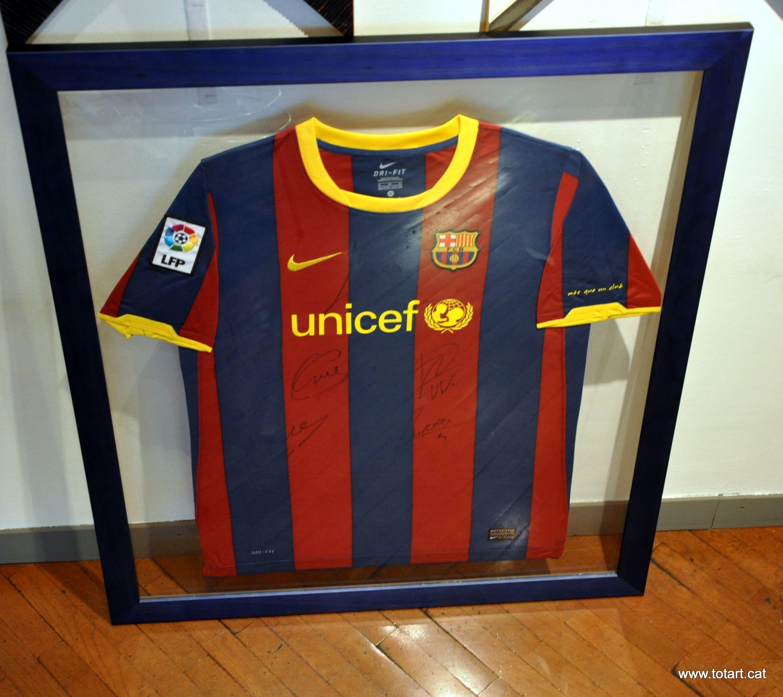 Marcos para cuadros de doble cristal, con camiseta del #FCBarcelona ...