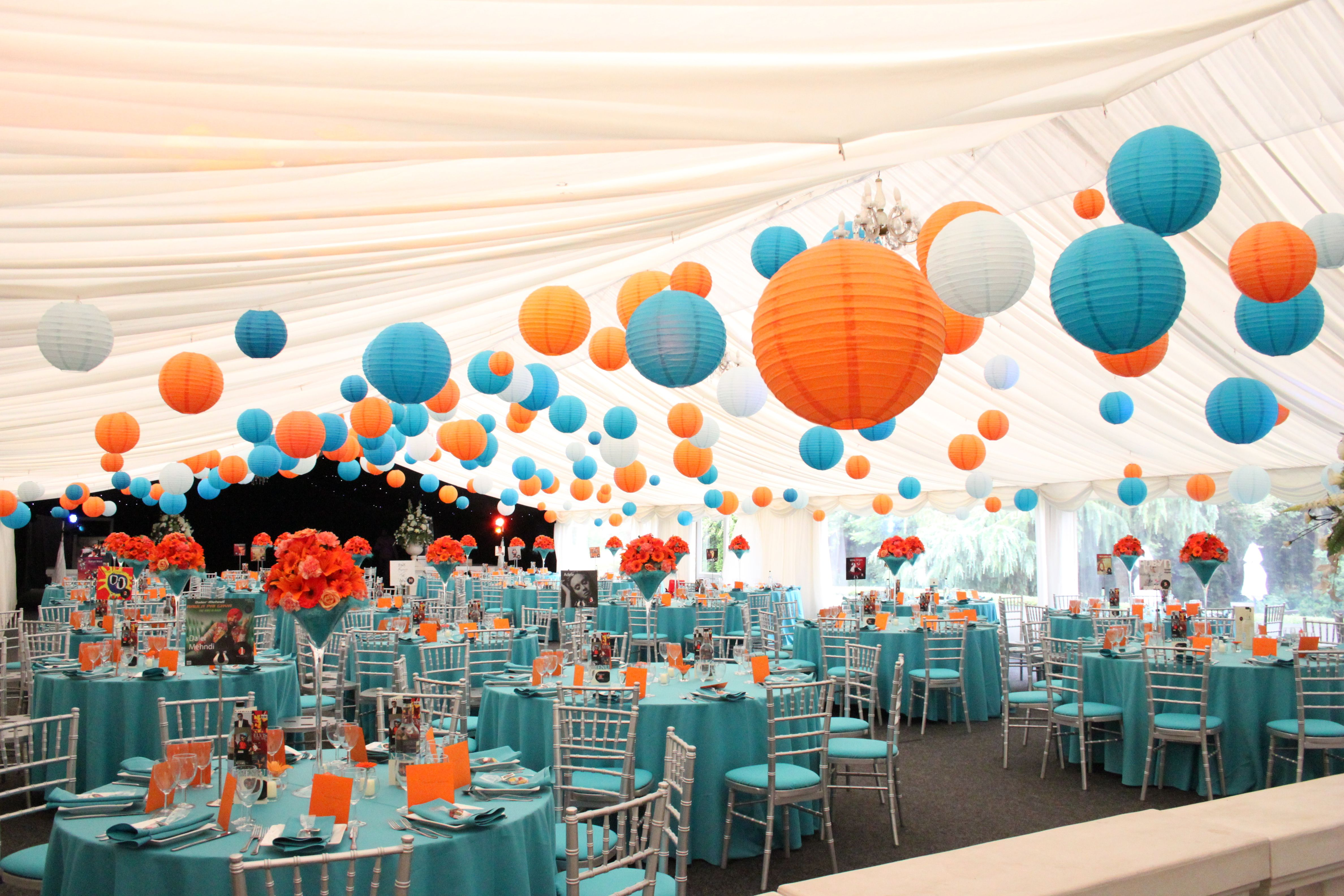 Decorating With Colors Mango: Bright And Beautiful! Mix Mango Orange And Turquoise Paper