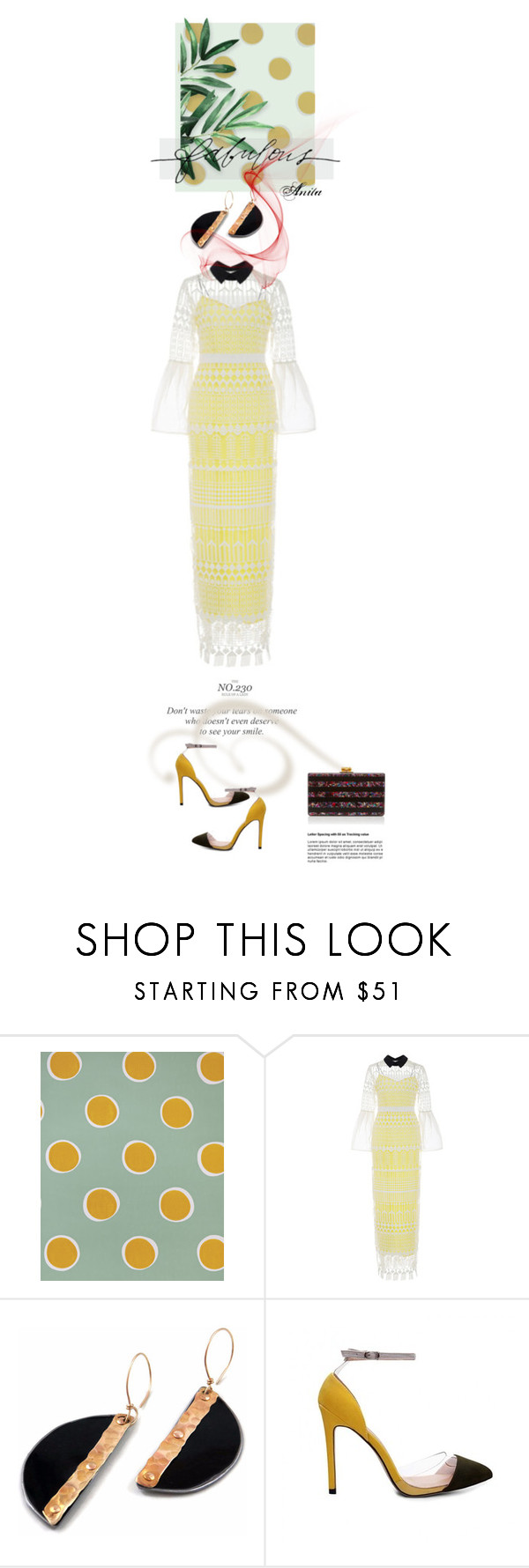 """""""Personal Pick"""" by wodecai ❤ liked on Polyvore featuring Serena & Lily, Stella & Dot, self-portrait and Edie Parker"""
