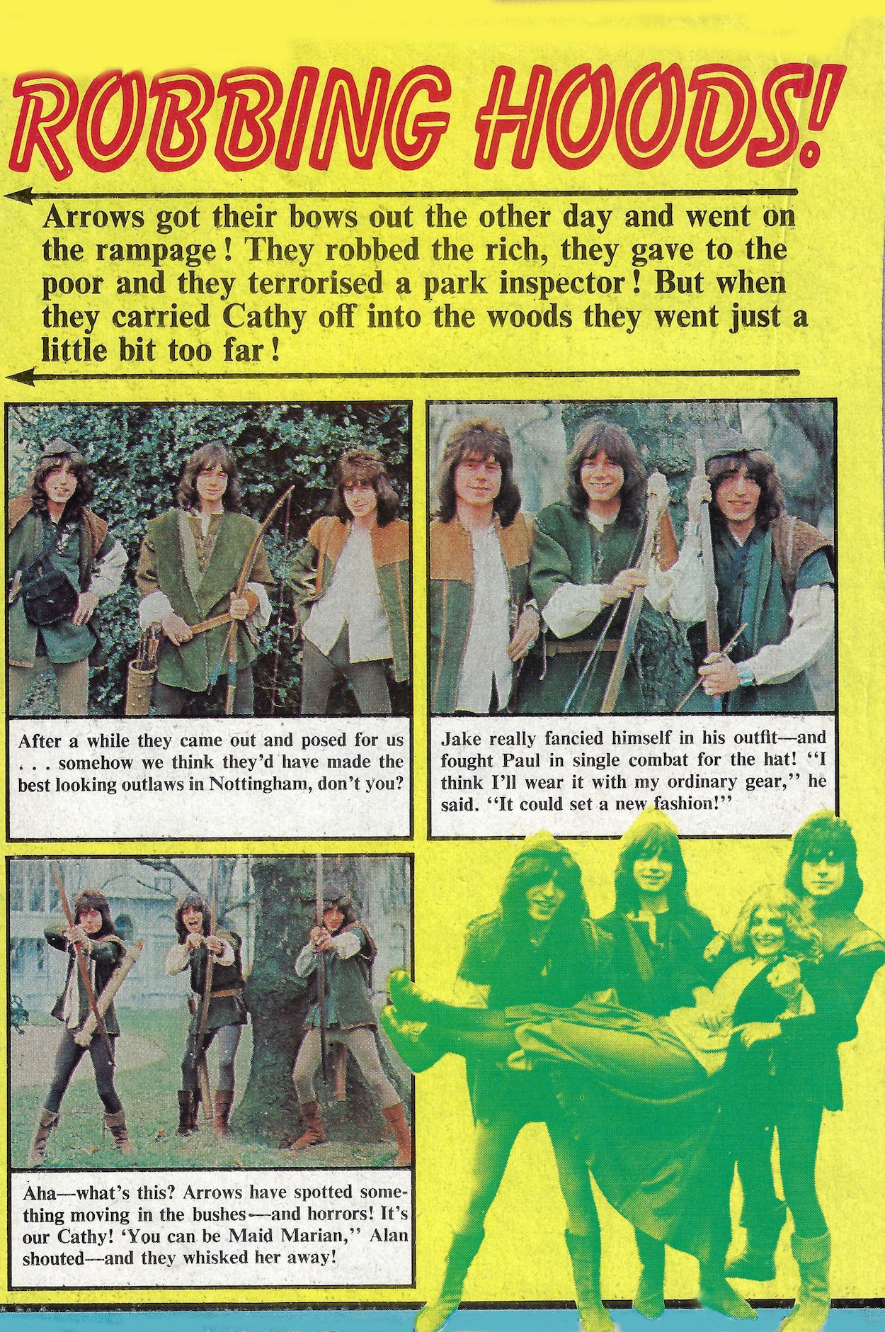 Arrows in Supersonic magazine 1976 UK, lead singer Alan Merrill in
