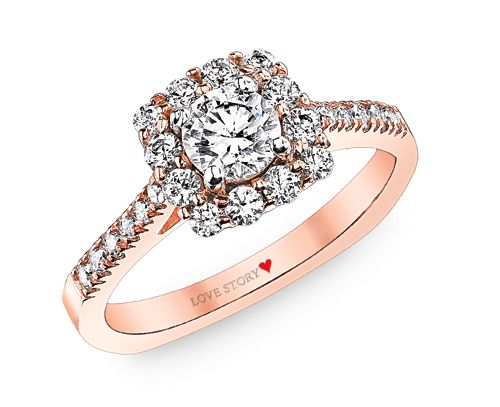 Rose Gold Only You Collection Diamond Engagement Ring Item