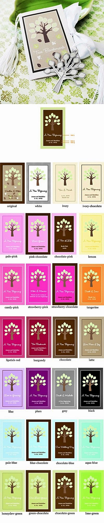 An Awesome Start Tree-Shaped Bookmark | Bookmarks & Letter Openers ...