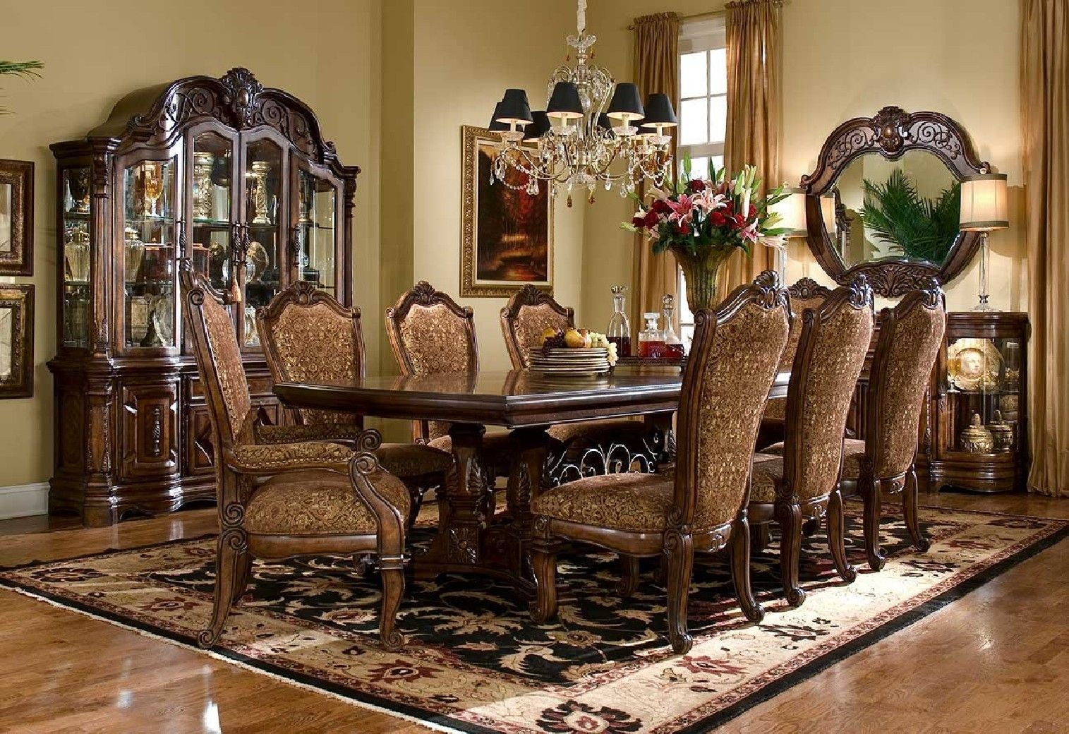 Aico Furniture Savings The World If Michael Amini Amini Furniture For Less Deluxe Furniture The Be Luxury Dining Room Beautiful Dining Rooms Tuscan Decorating