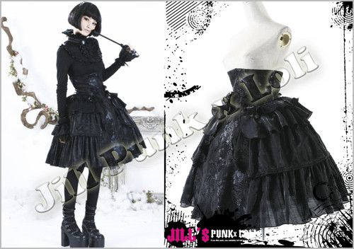 Goth Visual Medieval Baroque Madam Papillon High Rise Cake Skirt LQ028 B | eBay