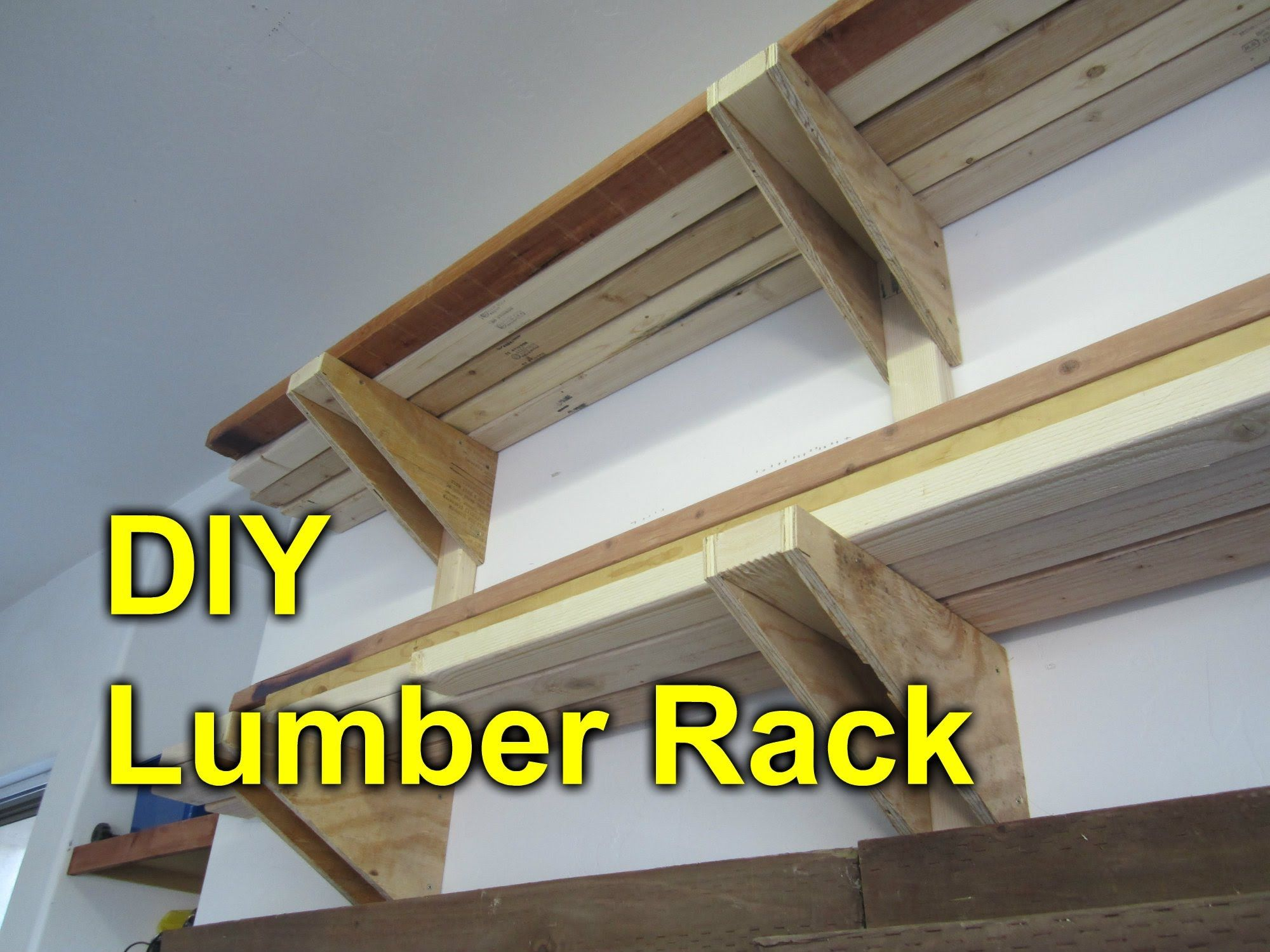 Garage Lumber Rack Easy Cheap Diy Project Lumber Rack Wood Storage Rack Lumber Storage Rack