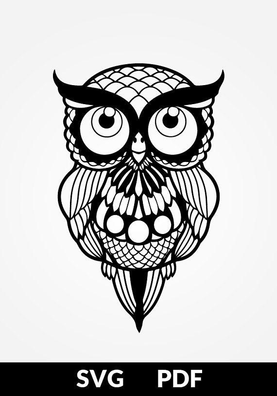 Pdf Cut File Paper Cutting Templates Owl Papercut Diy
