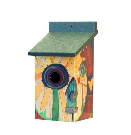 Stephanie Burgess Sunflower Birdhouse by Studio M