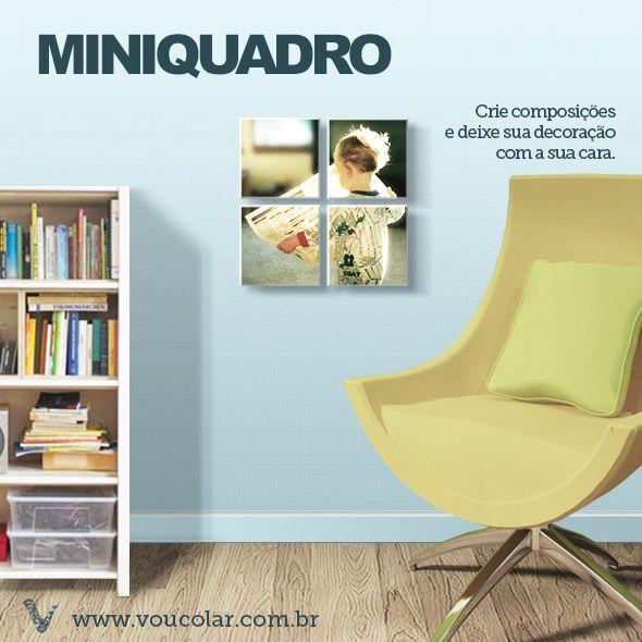 Monte a sua composição de miniquadros em www.voucolar.com.br