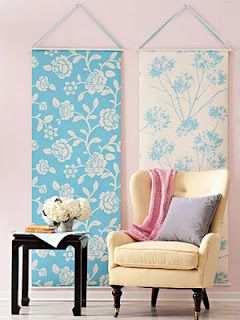 Different Ways To Use Wallpaper. Could Use As Growth Chart For Adriana. Nice Ideas