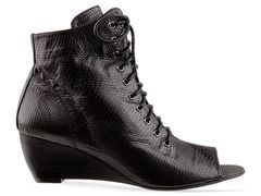 open-toe lace-up boots, mmm