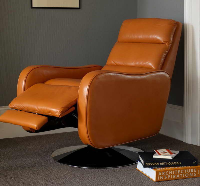 Furniture Ikea Leather Recliner With Orange Color Design Ikea