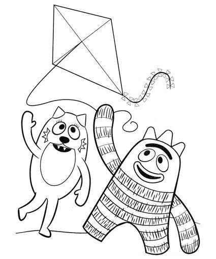 FREE printable yo gabba gabba coloring pages   Happy Birthday Baby ...