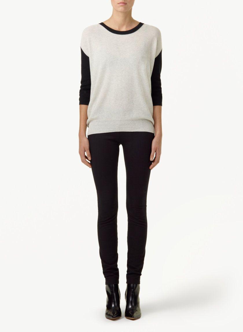 b22b94c07a63e3 WILFRED BALZAC SWEATER - Bold colourblocking in silk, cotton and cashmere