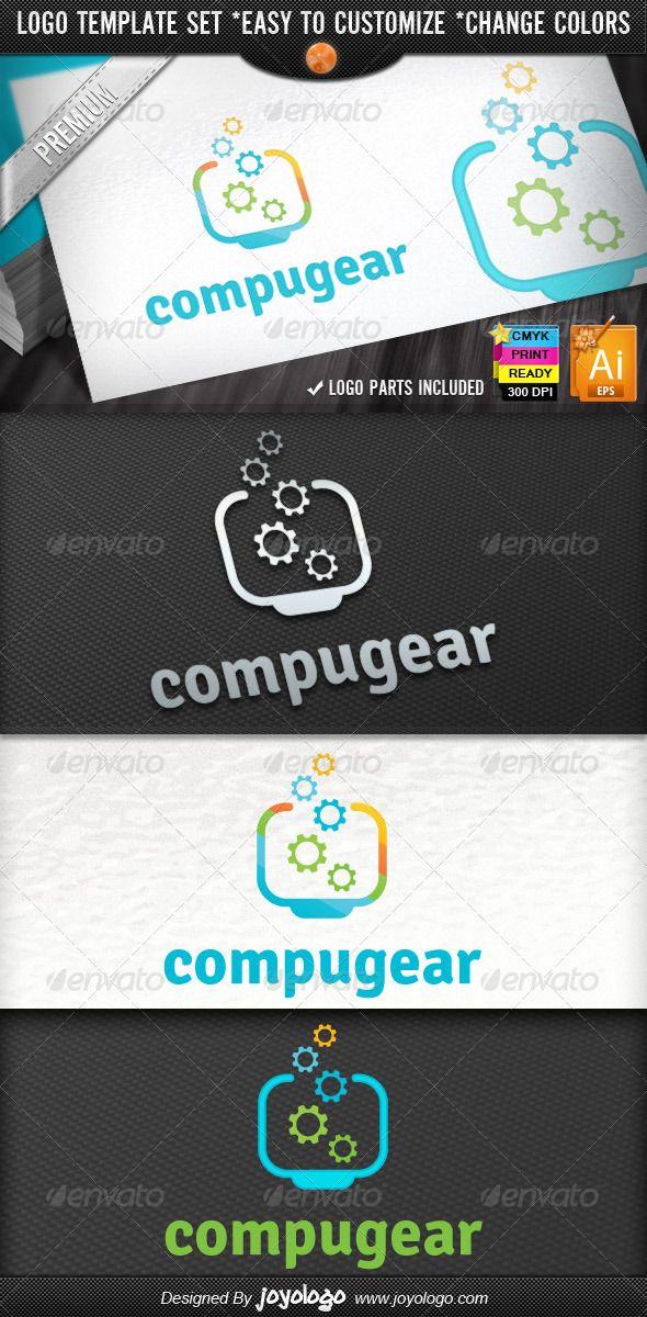 Pixel Gears Computer Repair Service  - Logo Design Template Vector #logotype Download it here: http://graphicriver.net/item/pixel-gears-computer-repair-service-logo-designs-/2729342?s_rank=967?ref=nexion