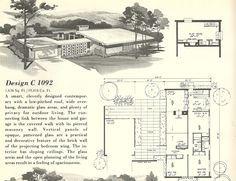 mid century modern house plans 1960s spanish style and mid century modern - Mid Century Modern Home Plans