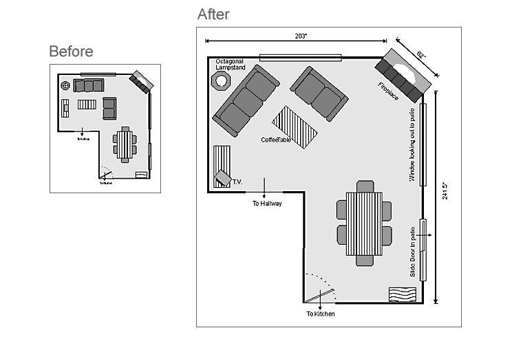 L Shaped Living Room Dining Room Furniture Layout L Shaped Bedroom Layout  Design Ideas 20172018  Pinterest