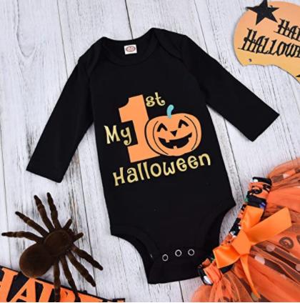My First Halloween Pumpkin Shirt Baby Halloween Outfit Halloween Outfit Trick or Treat Shirt My 1st Halloween Outfit