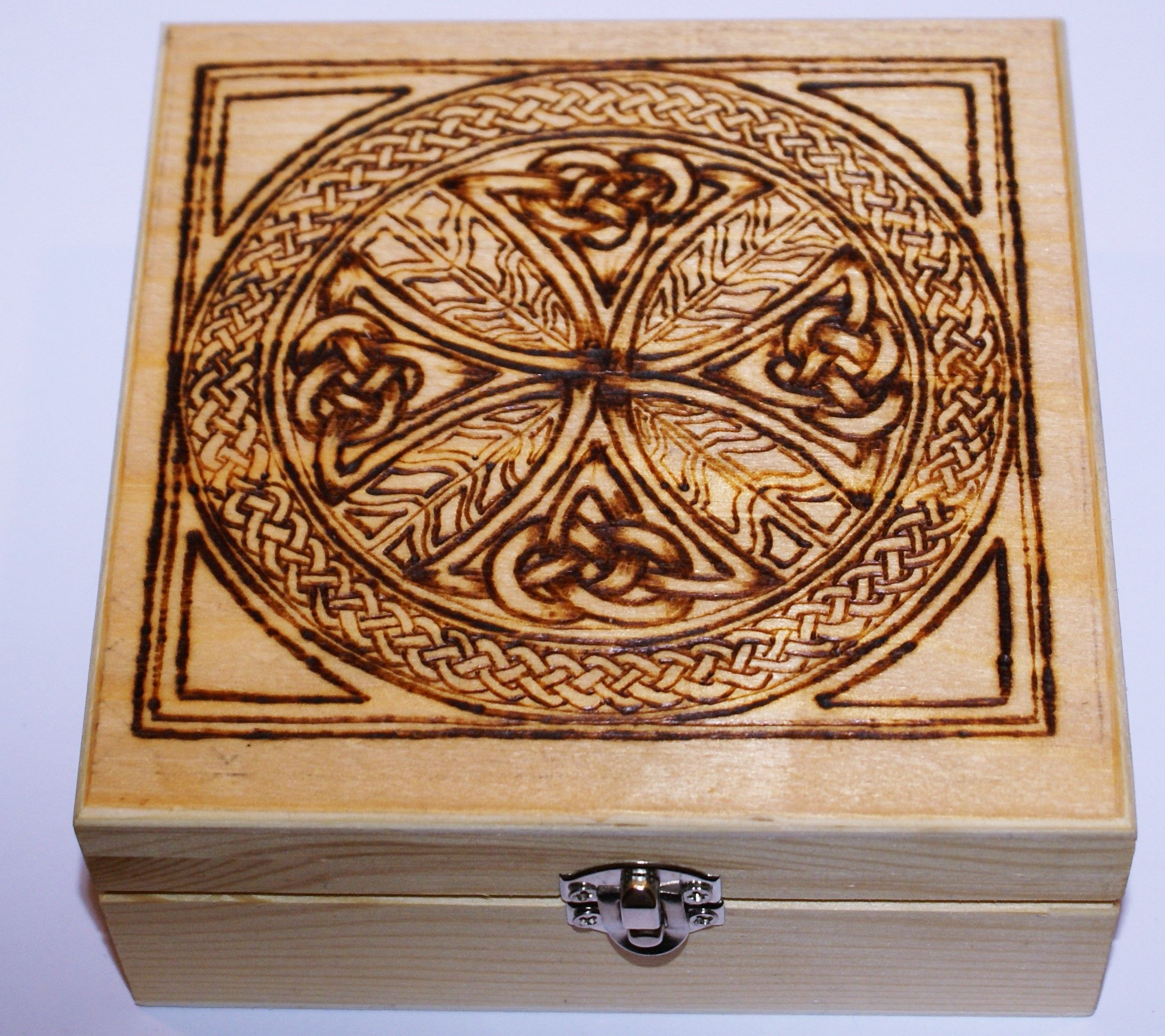 Celtic wooden box facebookcheffispastriesandparties