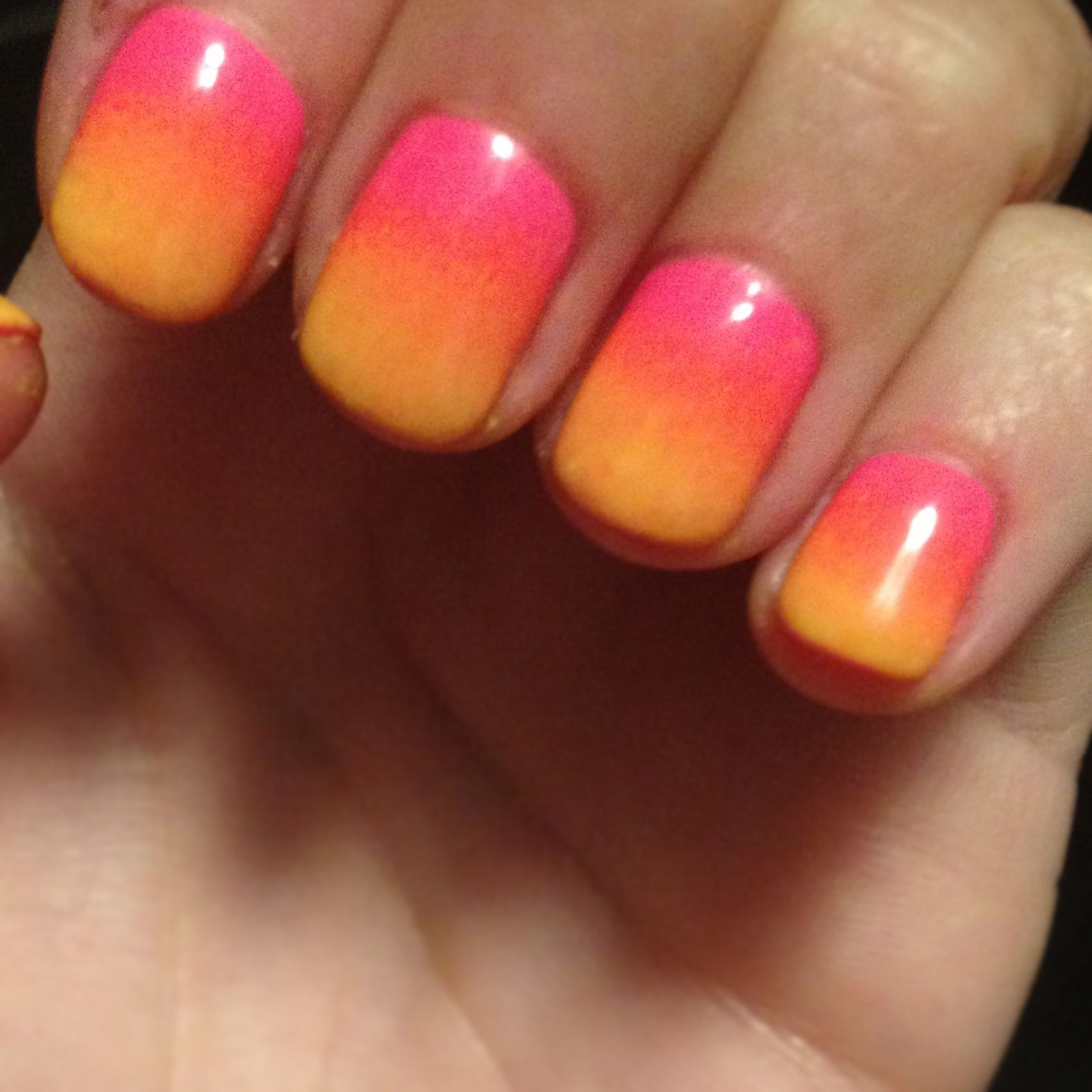 Ombre Nails Aruba Summer Pink Orange Yellow Ombre Nails Nails Candy Corn Nails