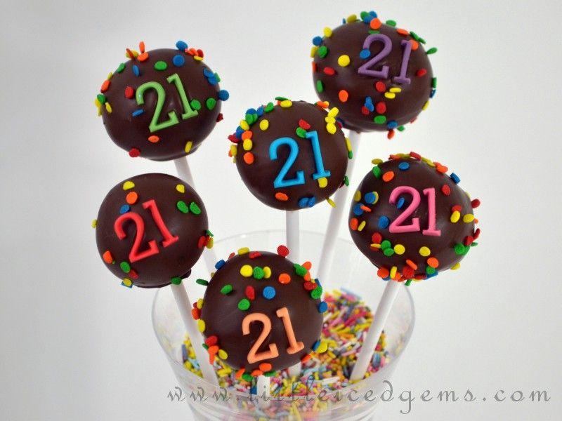 Outstanding 21St Birthday Cake Pops Littleicedgems Com Birthday Cake Personalised Birthday Cards Sponlily Jamesorg
