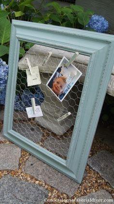 Chicken Wire Message Board Frame Worketc Pinterest Chicken
