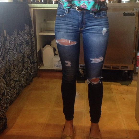 a9054e53 American eagle jeans Ripped blue jeans American Eagle Outfitters Jeans  Skinny
