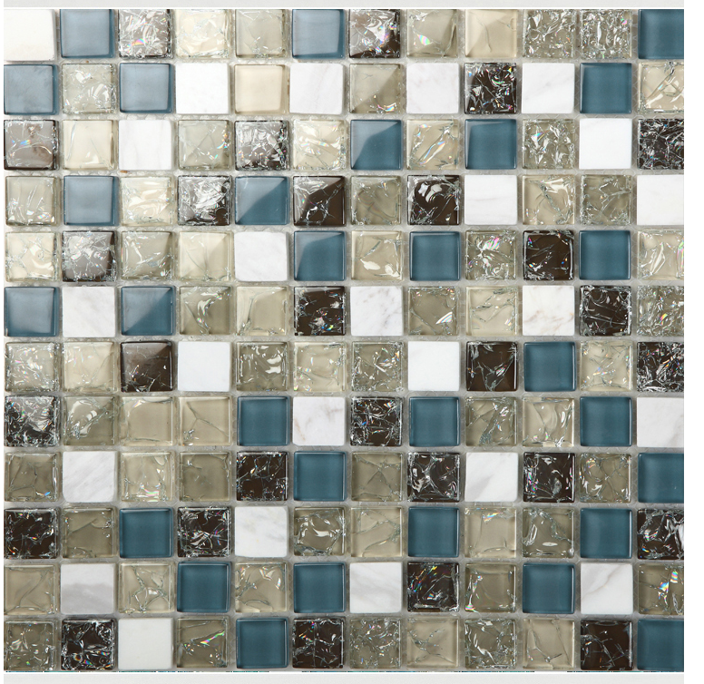 Front Side Of The Stone Gl Blend Mosaic Tile L316