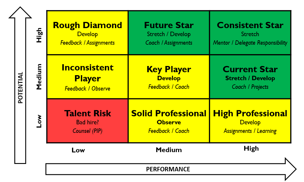 9 box grid for succession planning and employee talent