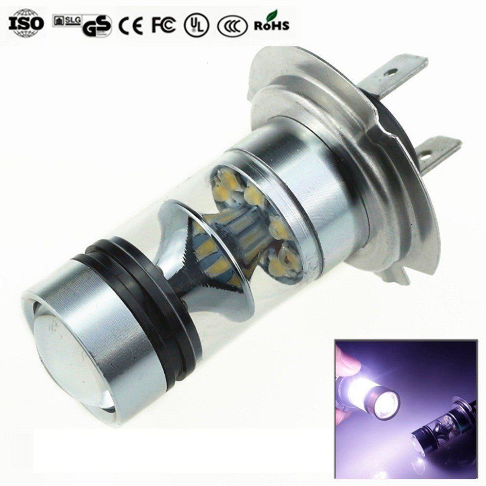 1pcs H7 100W LED Fog Tail Driving Car Head Light Lamp Bulb White Super Bright