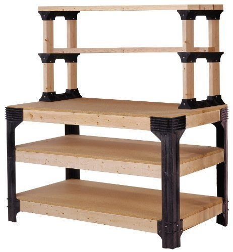 Workbench Shelving Storage System Stronger Table ShelfLink Wood for Tools New #2x4Basics