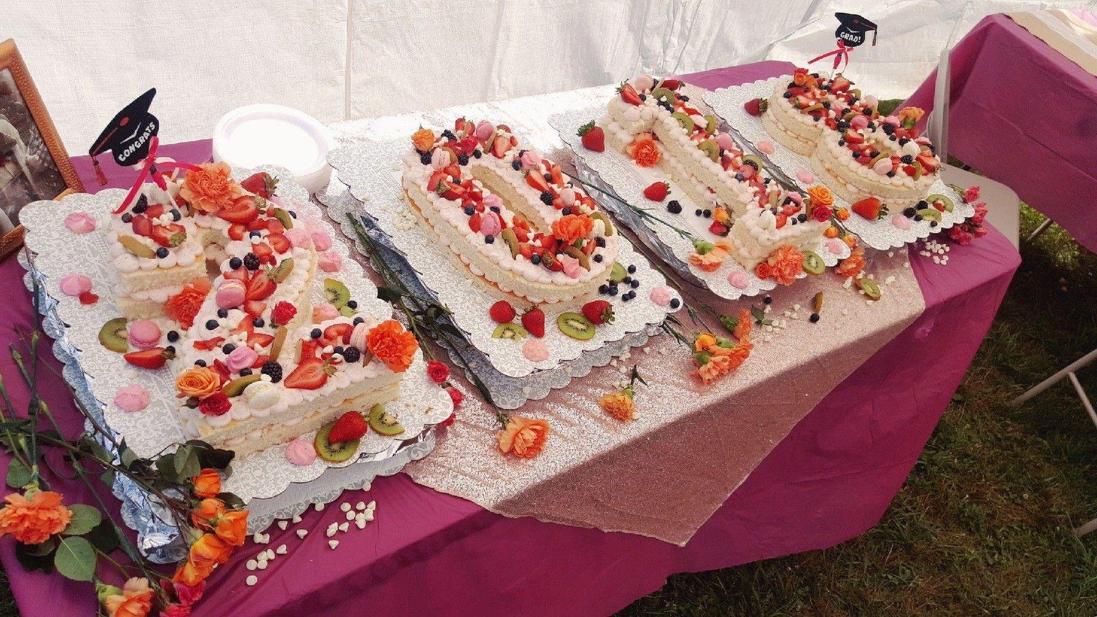 Ashelly merits 2018 graduation numbers cake made by amanda
