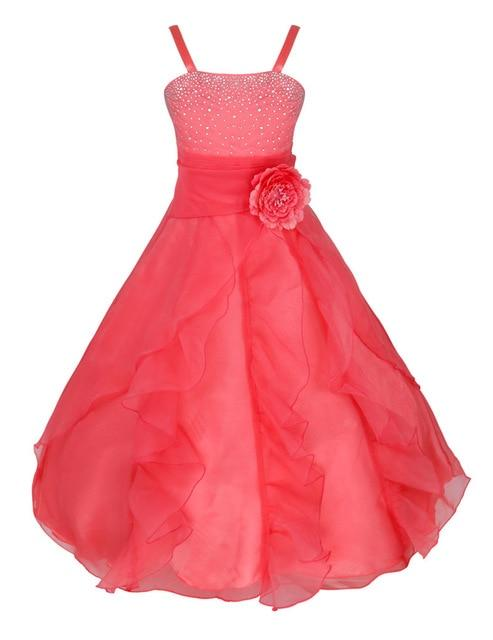 abca4c047ea2f Elegant Girls Dress Gowns Kids Princess Wedding Dress Party Wear ...