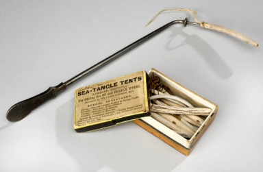 Box of laminaria tents for cervical dilation United Kingdom 1871-1900 & Box of laminaria tents for cervical dilation United Kingdom 1871 ...