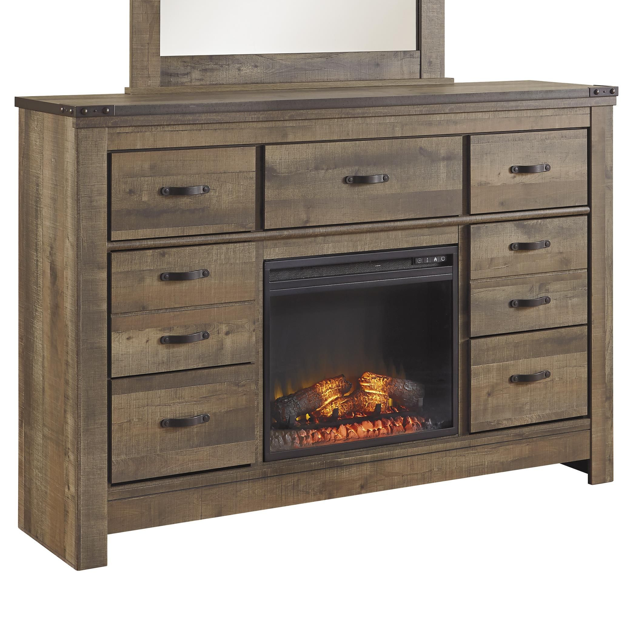 Trinell Dresser with Fireplace Insert by Signature Design