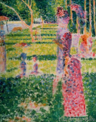 Georges Seurat Promenierendes Paar