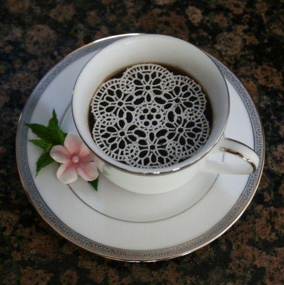 Sugar Doilies for coffee... Neat!