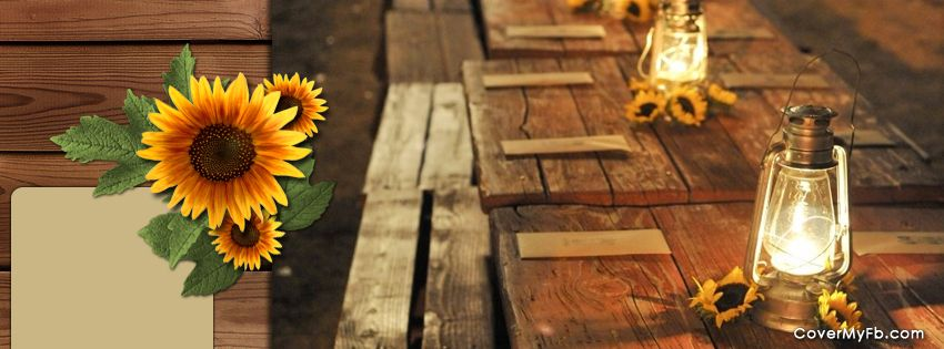 Rustic Sunflowers Facebook Cover Wedding Decorations