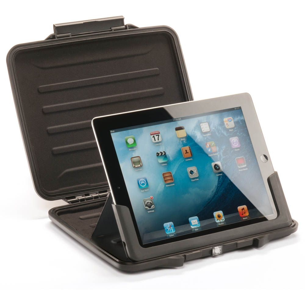 Peli ProGear i1065 Hardback case for iPad 2/3/4 and iPad Air. Watertight, crushproof, dustproof. For more information and to order visit: http://www.pelishop.com/1065-005-110e-i1065-hardback-case-with-ipad-insert.html