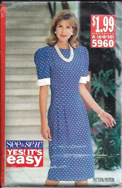 Butterick See & Sew 5960 Misses Dress by DawnsDesignBoutique, $8.99