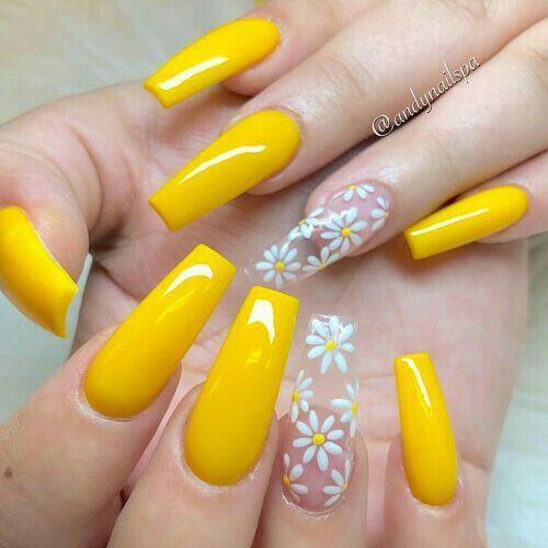 Aranzadrive Nails En 2019 Uñas Amarillas Uñas