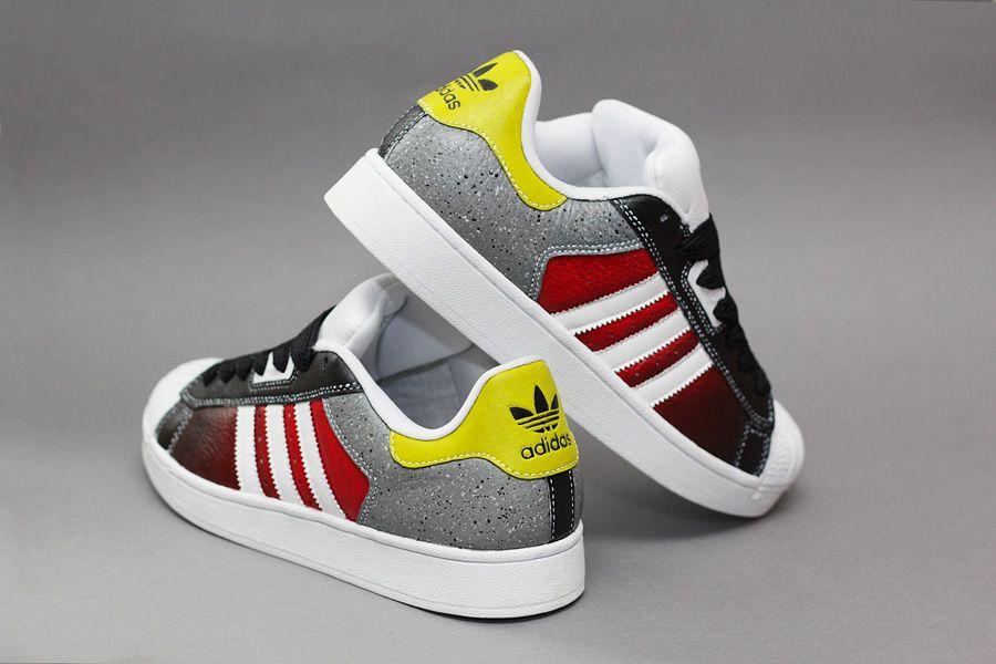 Jeff Metal adidas Crooked Tongues custom | Addidas shoes