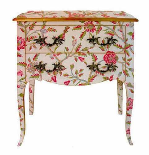 Painted Furniture Ideas Floral Patterns For Retro