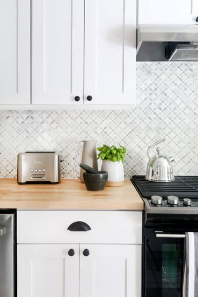 Maximize Your Resale Value With Simple Kitchen Updates Paint Tile Patterns  And Butcher Blocks Also Rh
