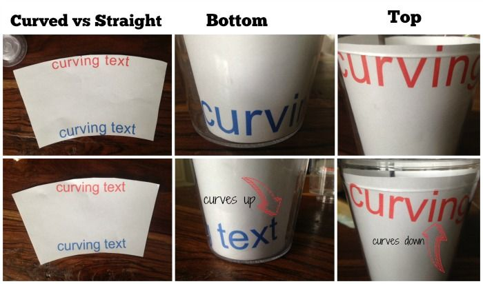 Curved And Straight Text On Top And Bottom Of Tumbler Craft - How to make vinyl decals with a cricut