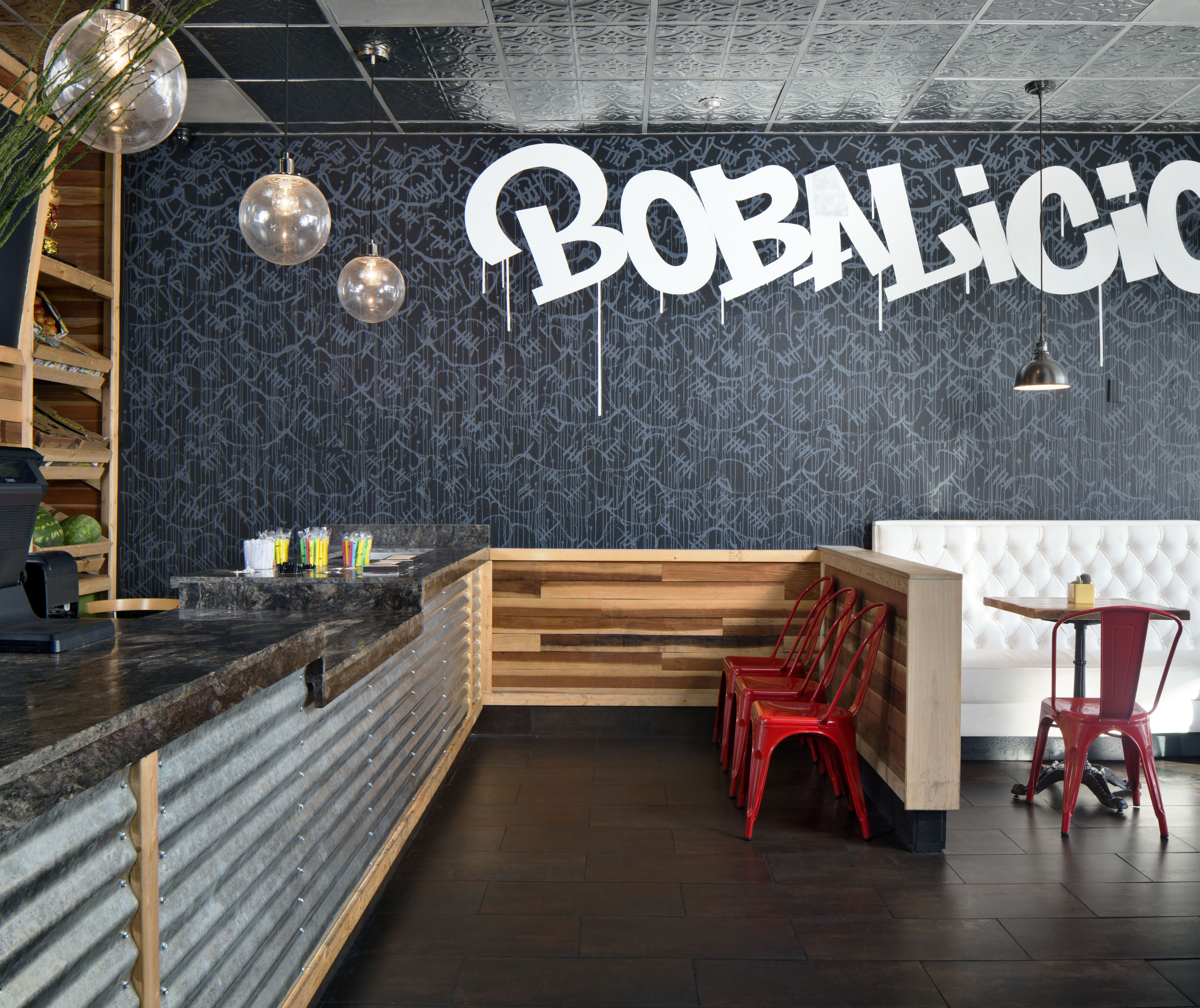 Boba Tea Shop Modern And Industrial Style See More Work From