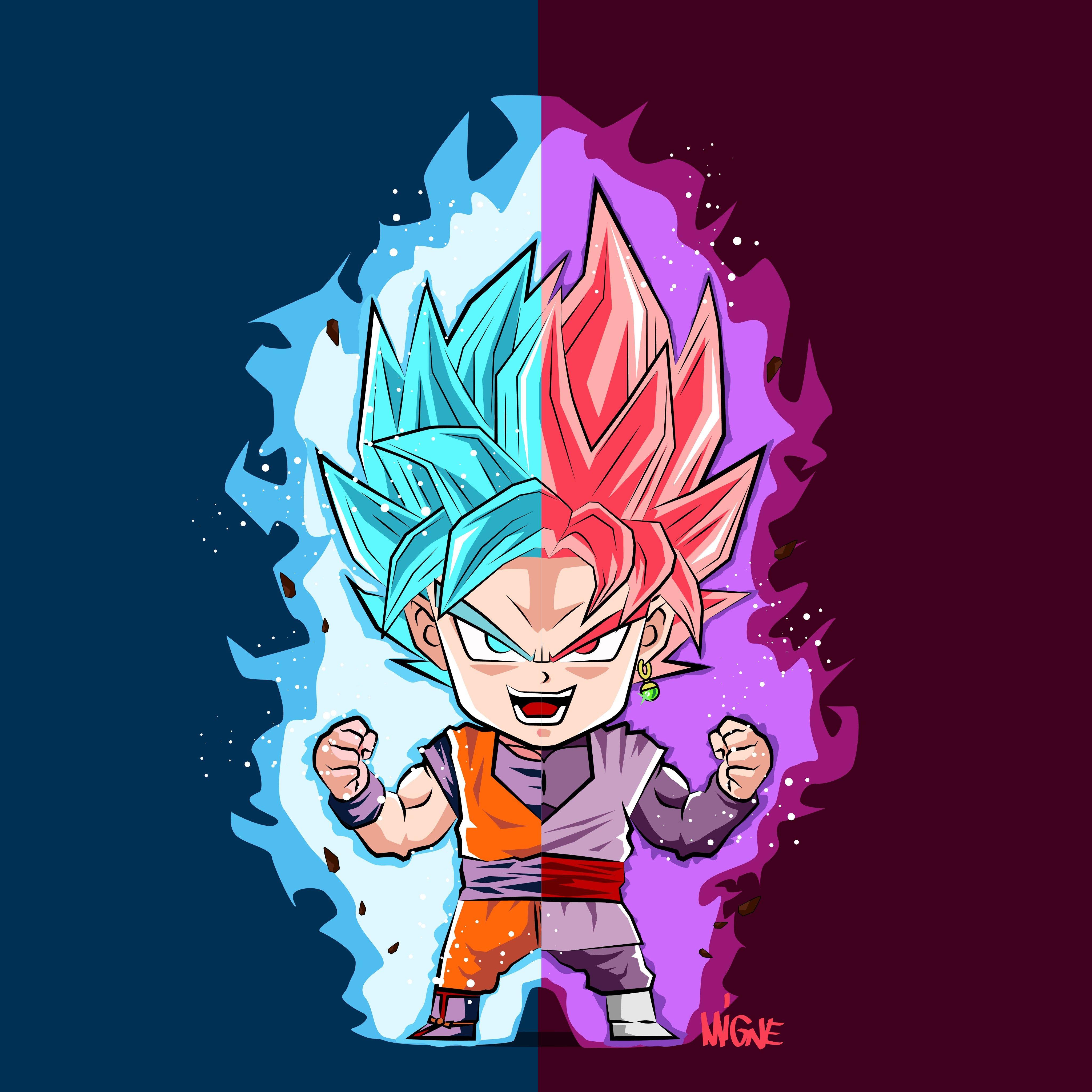 Goku And Goku Black Dragon Boll