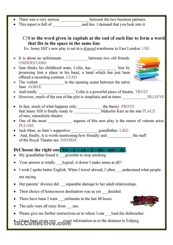 worksheet English Language Learners Worksheets negative prefixes 22 pinterest english worksheet free esl printable worksheets made by teachers
