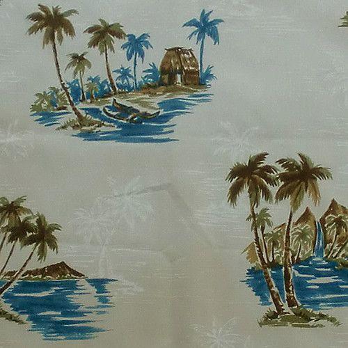 Hawaiian Print Fabric 100 Cotton 1 2 Yard 44 Wide Get Away Tropical