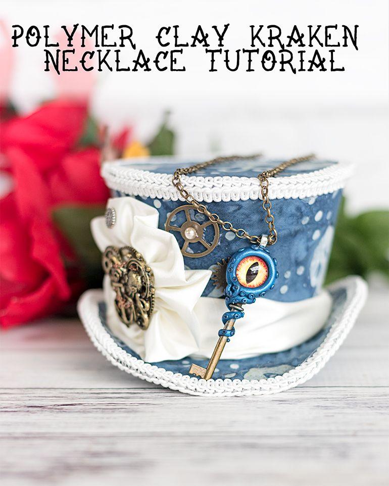 DIY Kraken Necklace for Halloween – Polymer Clay Octopus Necklace Tutorial