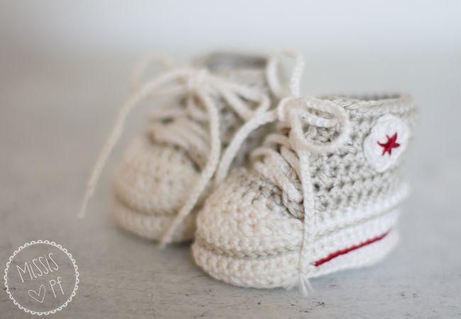 Gehäkelte Baby Converse Chucks Diy Crochet Baby Converse